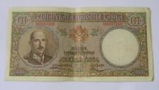 BULGARIA - KING BORIS III PERIOD 1000 leva issue 1938  BANKNOTE - VF