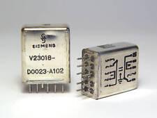 2x Siemens Relais V23018-D0023-A102, bistabil, 2 Wechsler, 25 Volt, Minipol
