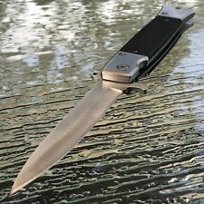 """9"""" TAC FORCE SILVER STILETTO FOLDING TACTICAL KNIFE Blade Pocket Open Switch"""