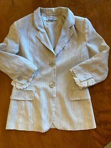 Vintage Handmade Pale Brown Suit Women/'s Linen Suit Size S