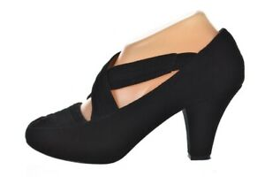 Gentle Souls Remody Womens Shoes Size 6 Black Strappy Pumps Suede Heels Peep Toe