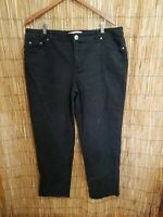 JUST MY SIZE CLASSIC STRETCH DENIM 20W AVERAGE WITH 5 POCKET BLACK JEANS  !WQQW!