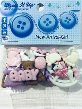 DRESS IT UP BUTTON EMBELLISHMENTS ~NEW ARRIVAL GIRL