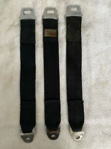 Mopar 3 Rear Seat Belt Set 1968 1969 B Body Dodge Charger Plymouth Roadrunner