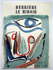 """Bram van Velde: """"Derrière le Miroir"""" 2 Orig.Farblithographien, Maeght Paris 1952"""