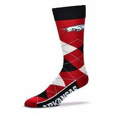 NCAA Arkansas Razorbacks Argyle Unisex Crew Cut Socks - One Size Fits Most