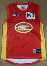 GOLD COAST SUNS 2011 INAUGURAL LEADERSHIP GROUP HAND SIGNED JUMPER ABLETT BROWN