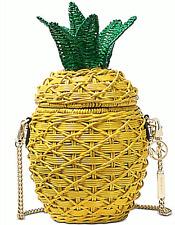 🌺🌹Michael Kors Straw Pineapple Crossbody Sunflower Original Packaging