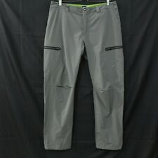 REI MENS SOFT SHELL STRETCH  HIKING PANTS Size 36x31 gray flat front zip