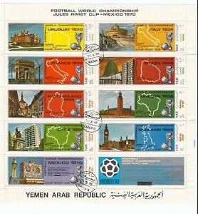 Yemen Jemen YAR, 1 Kleinbogen und 2 Sätze gestempelt