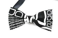 Mens PVC Faux Leather Fashion Black White Shining Bow Tie Bowties Wedding Party