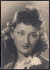 YZ0719 Torino - Ritratto di donna - Moda capelli - Foto d'epoca - 1952 old photo