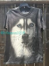 New The Mountain Siberian Face Husky Dog & Puppy T-Shirt 100% Cotton-Clearance