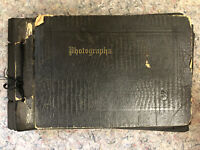 1920's Photo Album - Partially Filled - Cars - Babies - One Room Schoolhouse