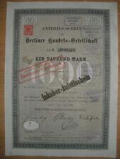 Berliner Handels - Gesellschaft  1886  Berlin    ING  BHF Bank