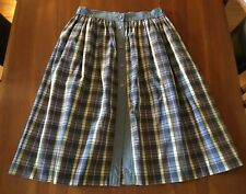 WEISS Vintage 1980's Tartan Check Cotton Polyester A-Line Button Front Skirt 12