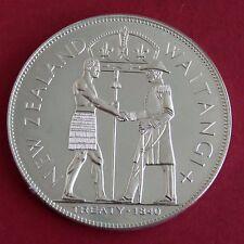 NUOVA Zelanda 1840 waitangi giorno ALLUMINIO prova modello CROWN-mintage 18