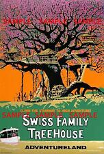 "Vintage Disneyland/World  Swiss Family  Treehouse [ 8.5"" x 11"" ]  Poster"