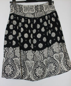 Atmosphere Black Mix Geometric Cotton Skirt Size 14