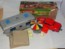 Vintage 1950s SSS TOYS S-303 House Trailer w/Friction Car & Picnic Table - Japan