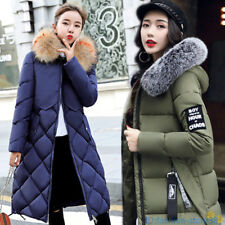 2019 Winter Women's long Down Cotton Ladies Parka Hooded Coat Quilted Jacket