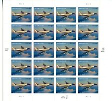 2007 US Scott #4144 $4.60 Air Force One Sheet of 20 Stamps