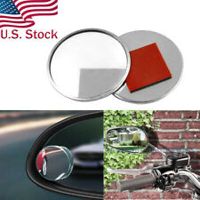 """2pcs 2"""" Round Stick On Car SUV Rear-view Blind Spot Mirrors Convex Wide Angle"""