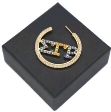 Sigma Gamma Rho earrings 1922 sorority greek letter poodle Sgrho blue gold