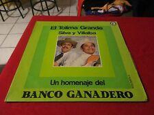 SILVA Y VILLALBA UN HOMENAJE DEL BANCO GANADERO VOL 4 VINYL LP COLOMBIA