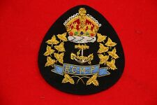 CANADIAN MOUNTED NAVY SECTION OFFICER'S CAP BADGE CANADA BULLION WIRE COPY