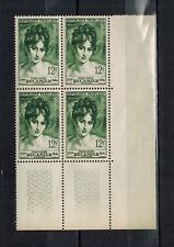 1950 - BORD DE FEUILLE de 4 TIMBRES NEUFS - Mme RECAMIER - STAMP-FRANCE -Yt.875
