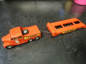 Vintage Matchbox King Size - No 8 Laing Scammell 6X6 Tractor and Trailer - NICE