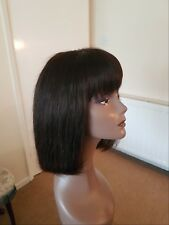 10inches handmade100% HUMAN HAIR bog wig. lace front closure. QUALITY GUARANEED