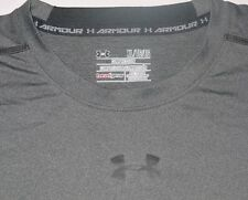 Mens EUC Gray Heather UNDER ARMOUR Heat Gear Compression Sleeveless Shirt sz XL