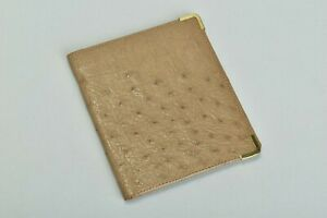 Mid C20th South African Airways SAA Ostrich Skin Notecase Wallet. BYK