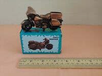 Vintage Die-Cast Miniature Motorcycle Metal Antique Finish Pencil Sharpener