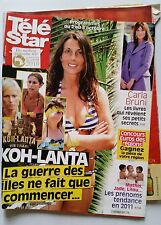TELE STAR du 27/09/2010; Carla Bruni/ Koh-Lanta/ Christophe Maé/ Penélope Cruz