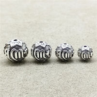 925 Sterling Silver Om mani padme hum Round Ball Bead for Bracelet Necklace