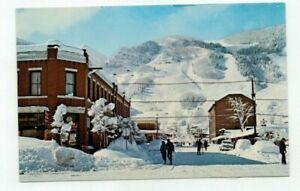 "CO Aspen Colorado vintage post card ""Aspen Mountain from Main Street view"""
