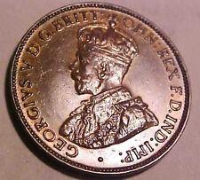 1933 Australia Half Penny ~Leather Color Uncirculated ~King George V ☆Make Offer