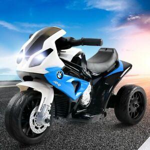 Kids Ride On Electric Motorbike BMW Licensed S1000RR Motorcycle Blue