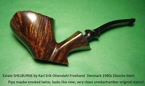 Estate SHELBURNE by Karl Erik Ottendahl Freehand  Denmark 1980s Ebonite  #1344