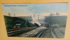 Old Greensburg PA. Radabaugh PRR Pennsylvania Railroad Tunnel Postcard Repo