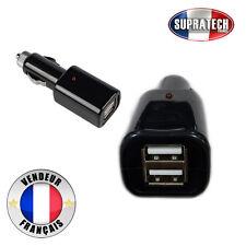 Chargeur Voiture Double Adaptateur USB sur Chargeur Allume Cigare pour Téléphone