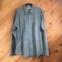 Geoffrey  Beene Mens Long Sleeve Shirt EUC! Green, XL