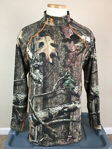 Under Armour Break Up Infinity Scent Control Camo Fitted Mock Neck Shirt Mens XL