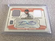 2013 TOPPS MUSEUM COLLECTION DUAL RELIC AUTO PRINCE FIELDER /50 PATCH