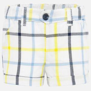 Mayoral baby boys check summer shorts, adjustable waist (1262)