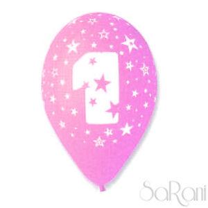 Palloncini 1 Anno Rosa 20 pz Palloni Compleanno Festa Party Decorazioni 30 cm