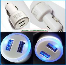 DOUBLE USB CAR MICRO CHARGER ADAPTER CIGARETTE PLUG FOR APPLE IPHONE 4 4s